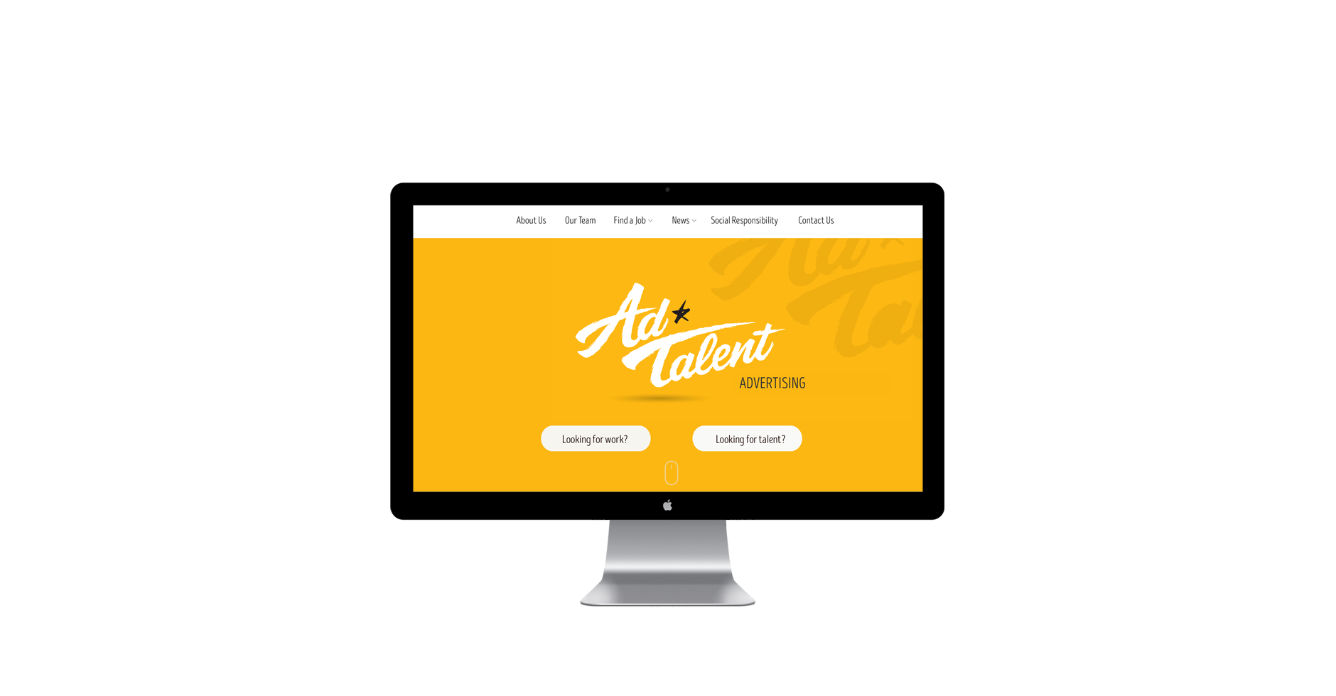 website design media recruitment agency minimalist freelance