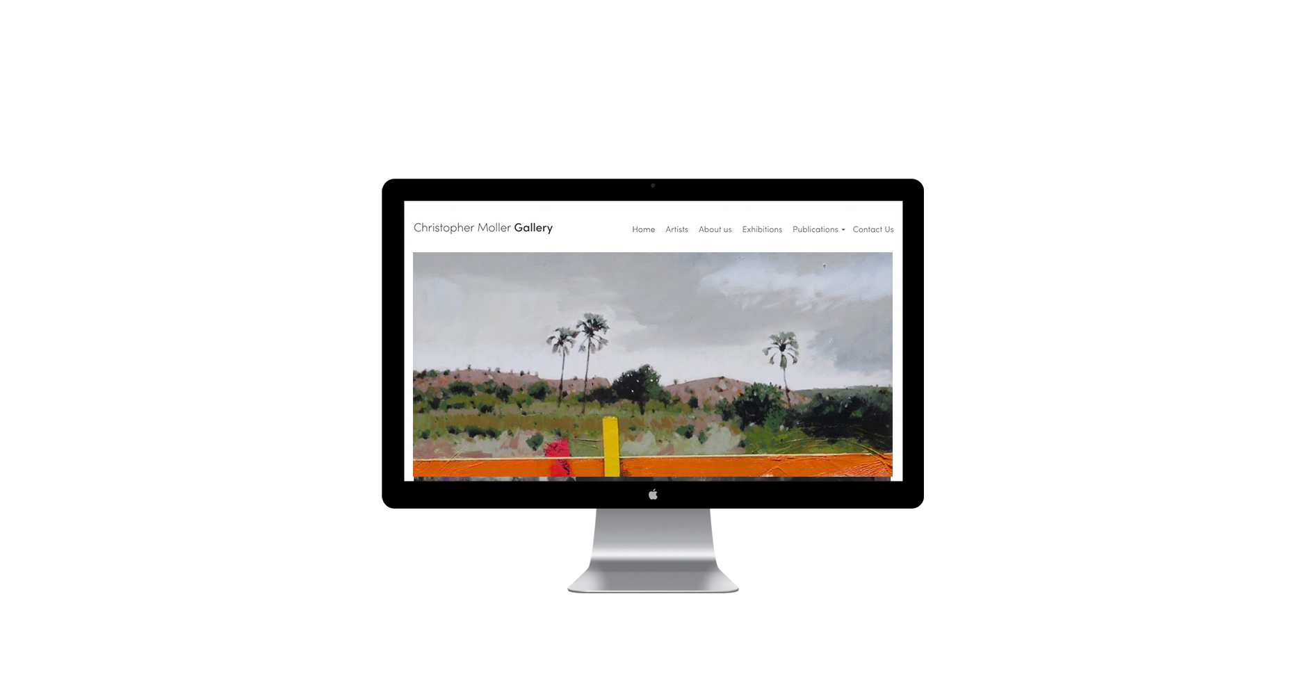 website design art gallery minimalist freelance