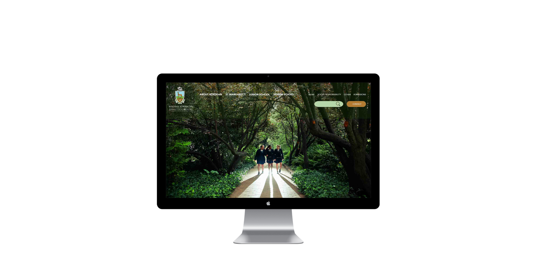 website design private high school minimalist freelance
