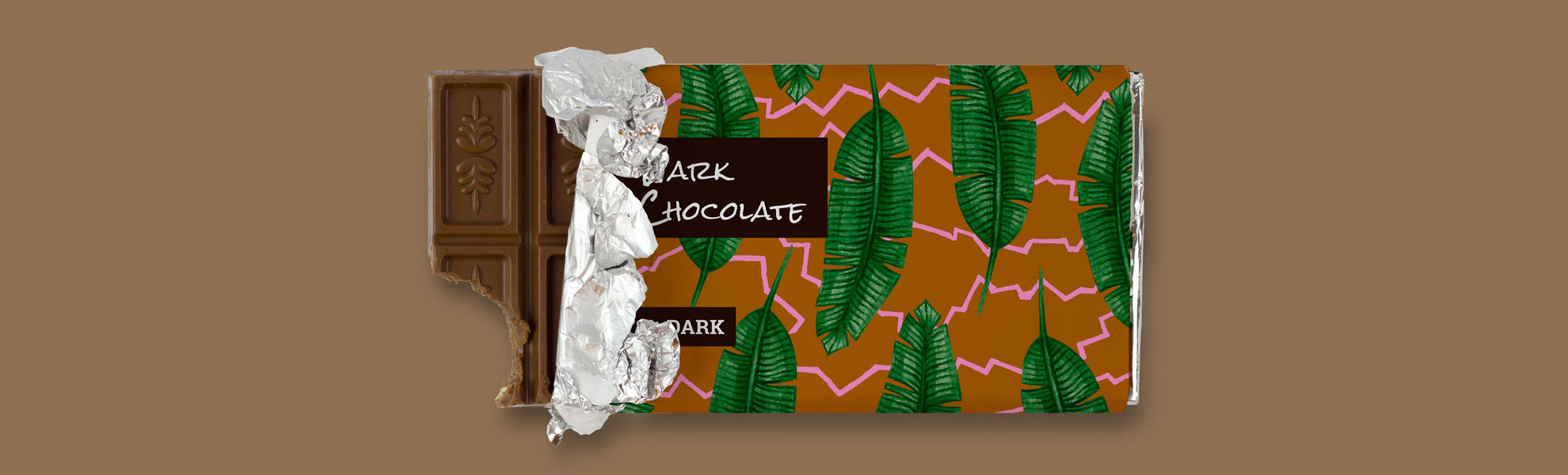 artisanal chocolate abstract palm tropical bold